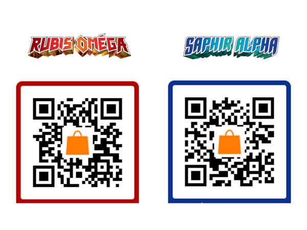 QRCode de Pokémon Rubis Oméga Saphir Alpha