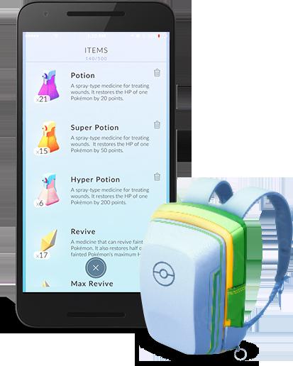 Soigner ses Pokémon - Pokémon Go