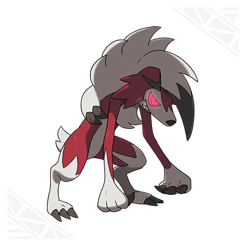 Lougaroc forme nocturne Pokémon Soleil et Lune