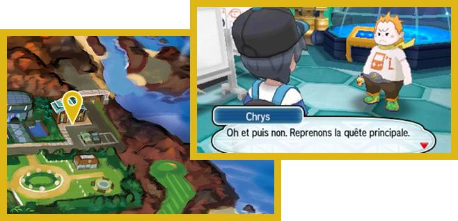 Localisation capitaine d'épreuve Chrys - Pokémon Soleil et Lune