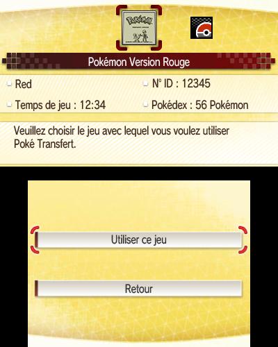 Poké transfert Pokémon