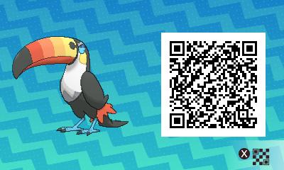 qrCode de Toucannon Pokémon Soleil et Lune