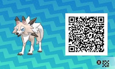qrCode de Lougaroc (forme Diurne) Pokémon Soleil et Lune