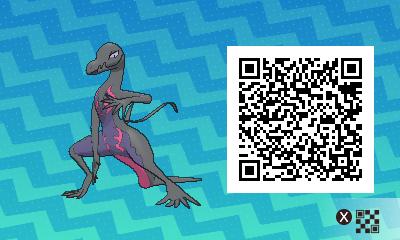 qrCode de Malamandre Pokémon Soleil et Lune