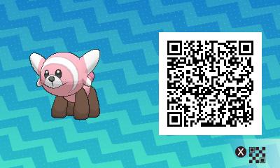 qrCode de Nounourson Pokémon Soleil et Lune