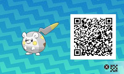 qrCode de Togedemaru Pokémon Soleil et Lune
