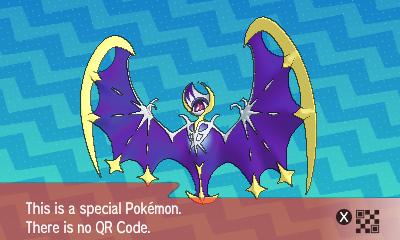 qrCode de Lunala Pokémon Soleil et Lune