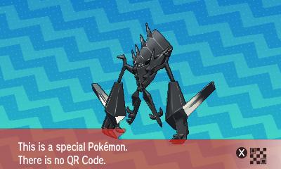 qrCode de Necrozma Pokémon Soleil et Lune