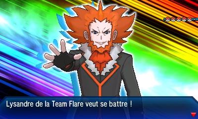 Lysandre Team Flare Pokémon Ultra-Soleil et Ultra-Lune