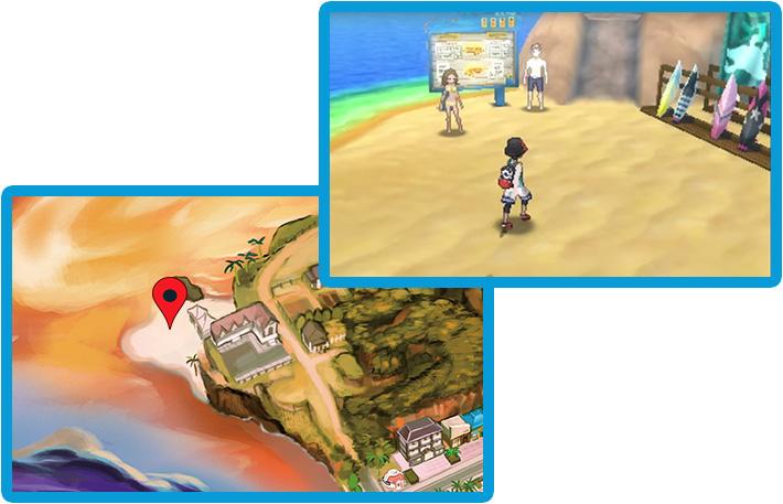Plage Surfeurs Pokémon Ultra-Soleil et Ultra-Lune