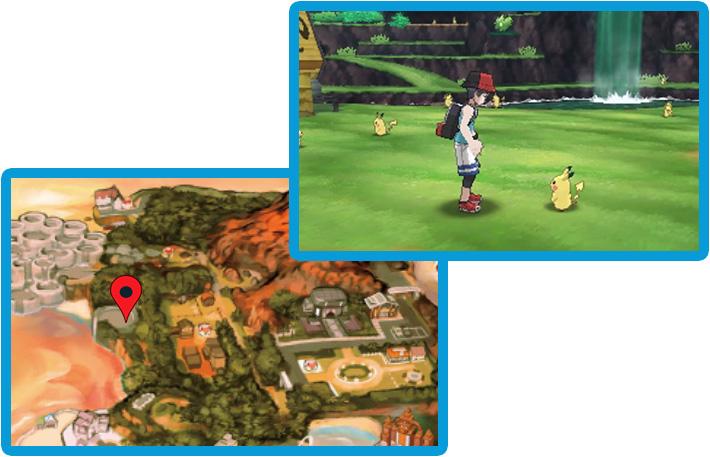 Plaine des Pikachu Pokémon Ultra-Soleil et Ultra-Lune