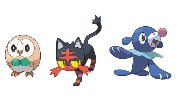 Starters Pokémon Ultra-Soleil et Ultra-Lune
