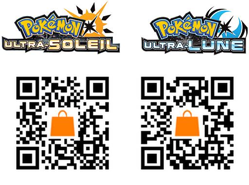 QRCode de  Pokémon Ultra-Soleil et Ultra-Lune