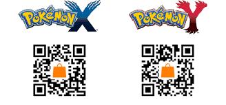 QRCode de Pokémon X et Pokémon Y