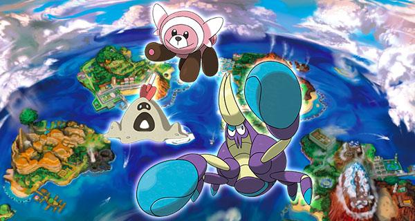 4 nouveaux Pokémon sur Pokémon Soleil et Lune : Crabagarre, Trepassable, Nounourson et Bacabouh