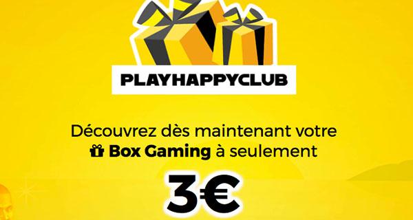 Découvrez la box geek PlayHappyClub pour 3€ !