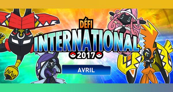 Compétition en ligne : le Défi international d'Avril