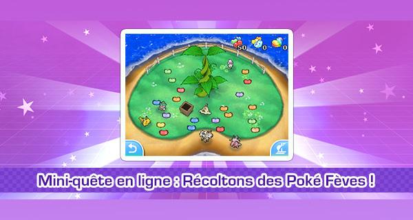 Nouvelle mini-quête en ligne sur Pokémon Soleil et Lune : Récoltons 3 millions de Poké Fèves !