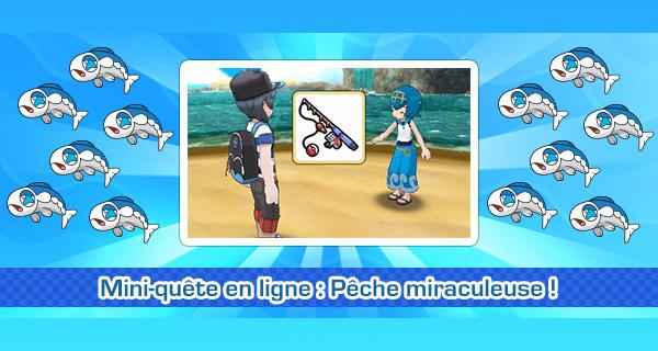 Nouvelle mini-quête Pokémon Soleil et Lune : la Pêche miraculeuse