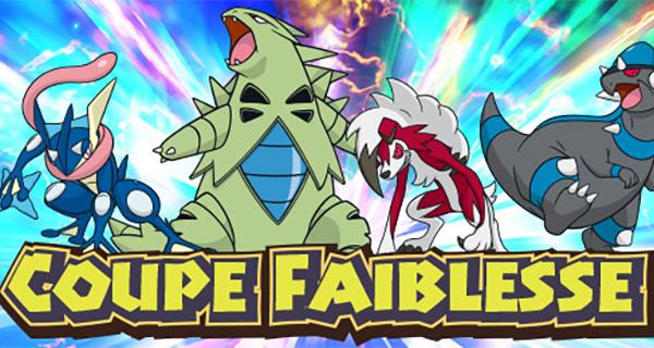 Nouvelle compétition Pokémon Soleil et Lune : Coupe Faiblesse