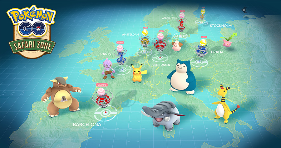 Le Pokémon GO Safari Zone arrive en Europe