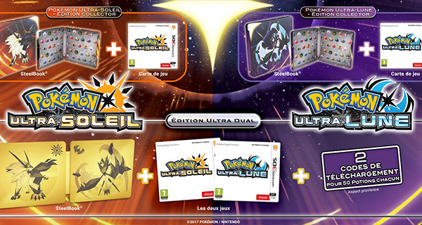 Pokémon Ultra-Soleil et Ultra-Lune : Éditions collectors et steelbook