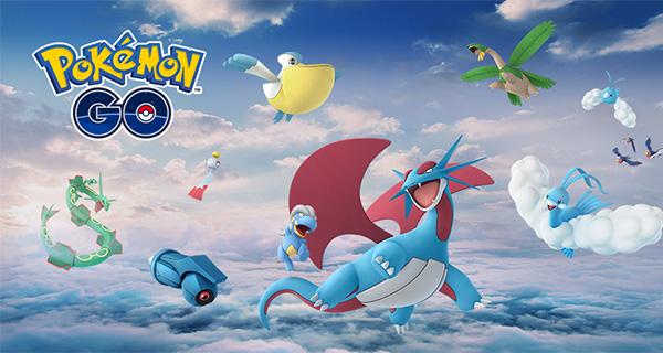 Rayquaza et d'autres Pokémon arrivent sur Pokémon Go