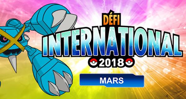 Défi International de Mars 2018 sur Pokémon Ultra-Soleil et Ultra-Lune