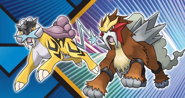 Raikou et Entei distribués au mois d'Avril sur Pokémon Ultra-Soleil et Ultra-Lune
