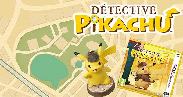 Concours : tentez de gagner 3 jeux et 1 Amiibo Détective Pikachu !