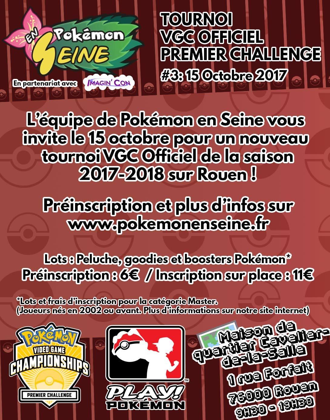 Tournoi VGC Pokémon en Seine le 15 Octobre prochain
