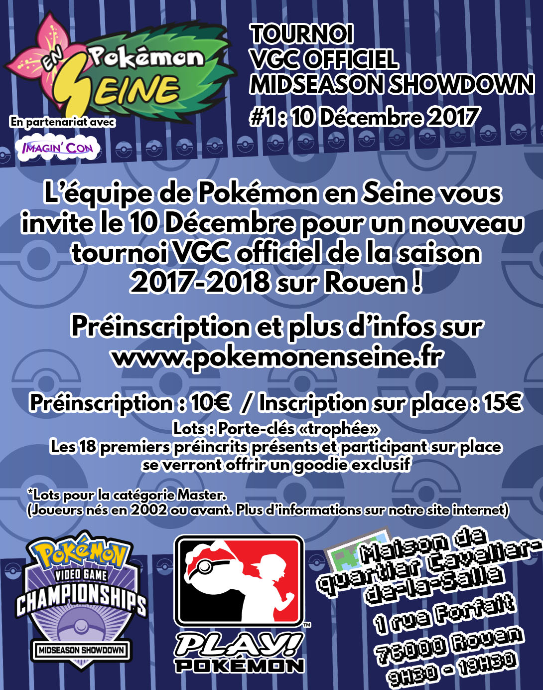 Tournoi VGC Pokémon en Seine le 11 Novembre prochain